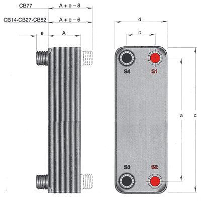 Паяный теплообменник Alfa Laval CB52 Архангельск Пластинчатый теплообменник HISAKA RX-70 Назрань