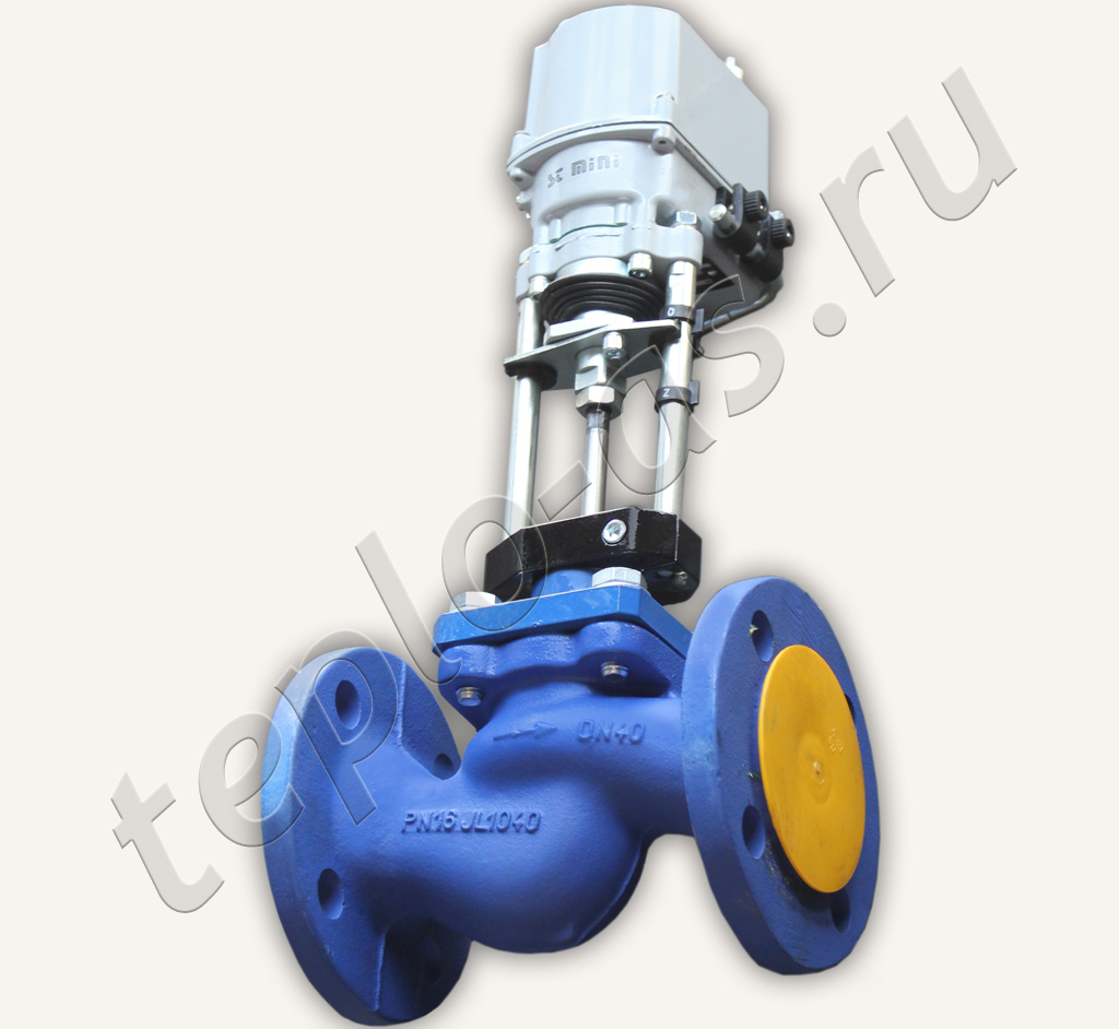 клапан запорно регулирующий электроприводом