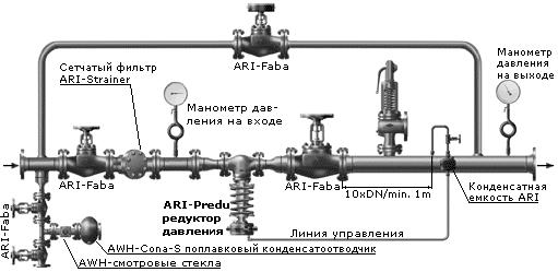 Схема монтажа регулятор давления воды
