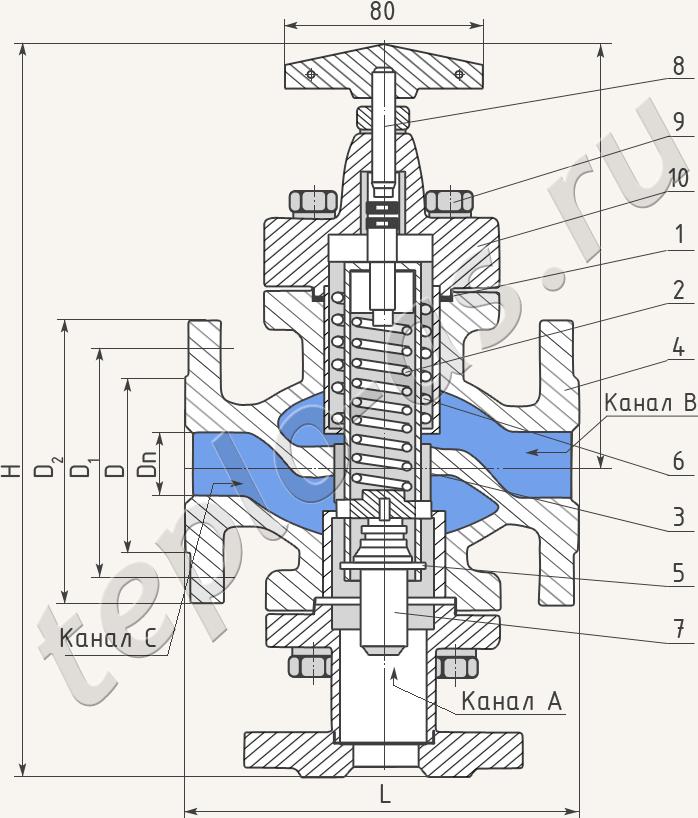 Регуляторы температуры прямого действия для теплообменника Кожухотрубный конденсатор Alfa Laval CDEW-135 T Владимир